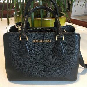 Micheal Kors Adele Leather Messenger Crossbody Bag